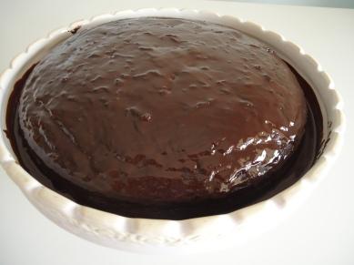 Bolo de chocolate com abobrinha - pronto