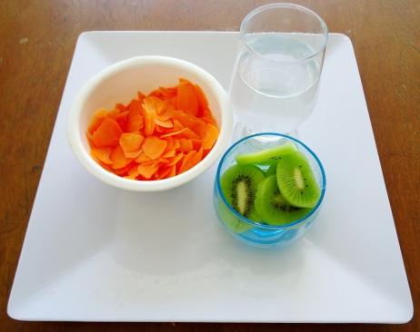 Ingredientes - Suco cenoura com kiwi