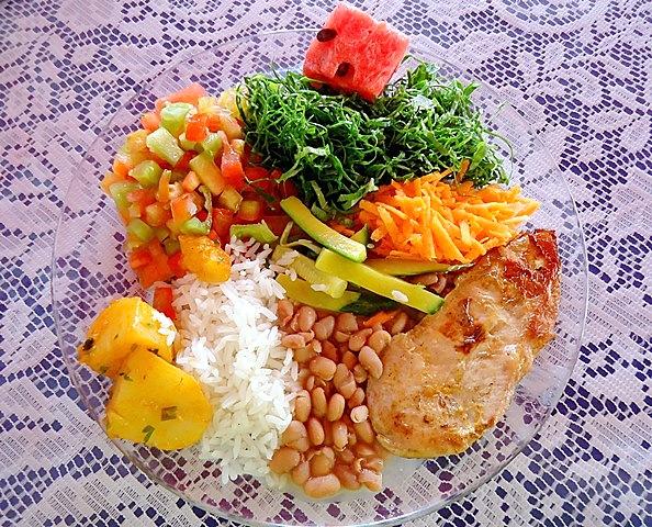 Prato saudável- filé de frango - arroz branco e batata cozida - 148
