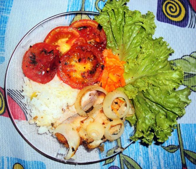 Almoço - peixe+arrozbranco