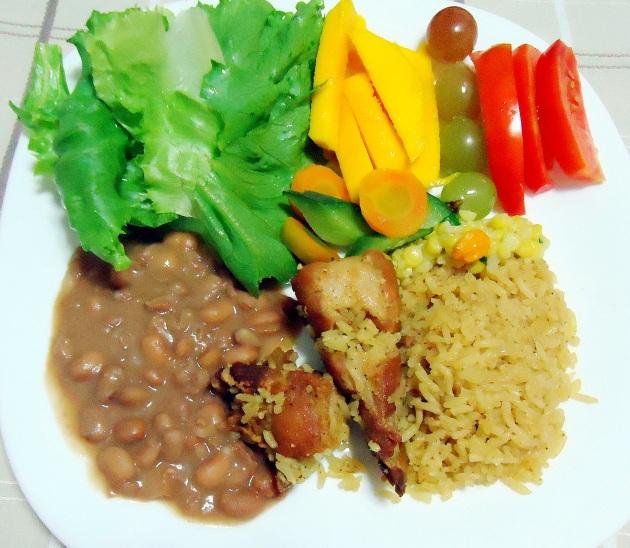 Prato - arroz com carne de porco